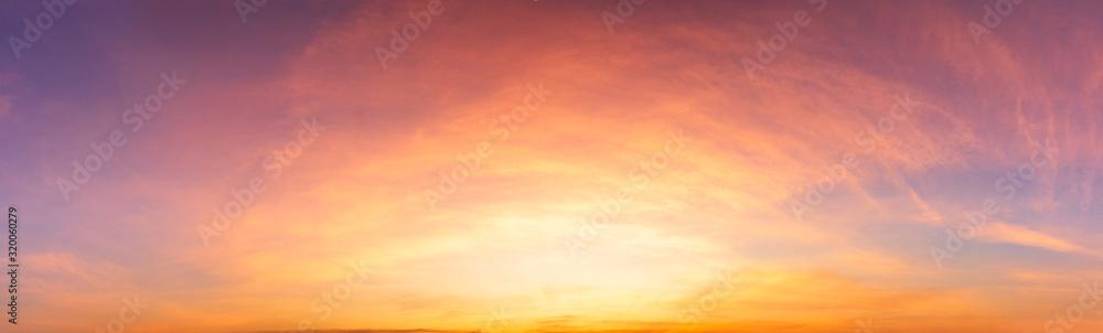 Fototapeta Panorama twilight sky and soft clouds nature background