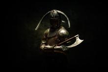 Portrait Of A Viking Berserker...