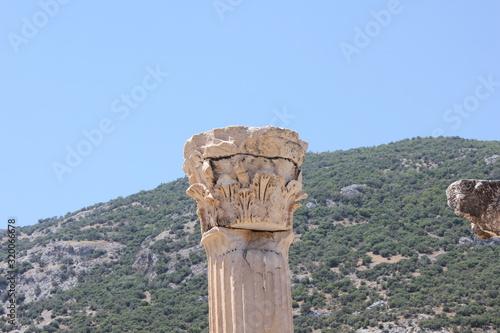 Obraz na płótnie efez kolumna koryncka