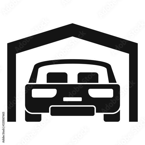 Car parking garage icon Wallpaper Mural