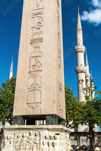 Obelisk of Theodosius on Sultanahmet Square, Istanbul, Turkey Canvas Print