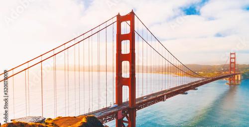 obraz lub plakat San Francisco's Golden Gate Bridge from Marin County