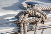 White And Black Sailing Ropes ...
