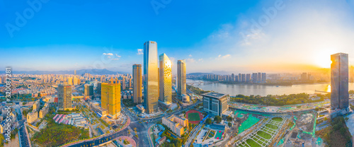 obraz PCV city scenery on the North Bank of Min River, Fuzhou City, Fujian Province, China