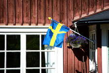 Swedish Flag At The Entrance O...