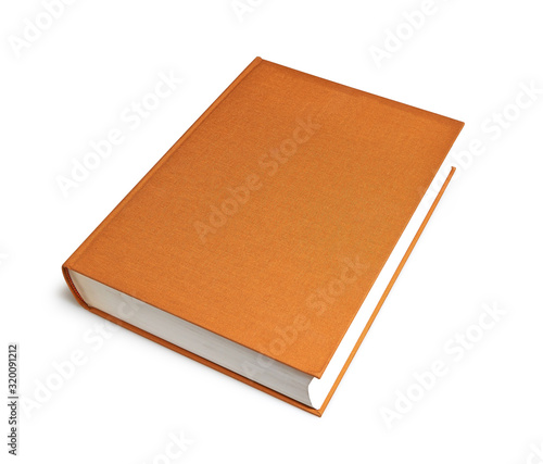 Closed brown big book with hardcover isolated Tapéta, Fotótapéta