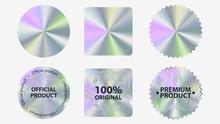 Set Of Hologram Label Geometri...