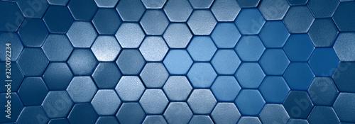 tło srebrne niebieskie geometryczne 3d Wallpaper Mural