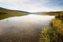 Wonder Lake At Sunset At Denal...