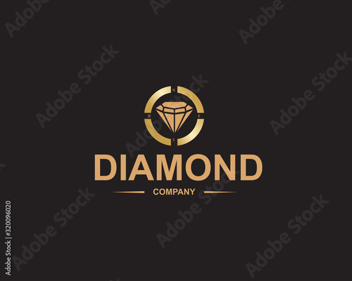 Fototapeta diamond logo,beautiful, treasure and gemstone