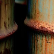 Close-Up Of Rusty Barrels