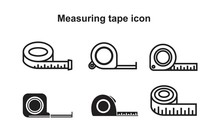 Measuring Tape Icon Vector Ill...