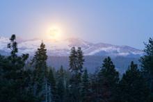 Full Moon Rising Over Mountain...