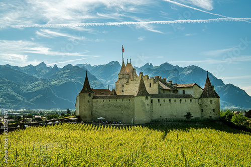 Castle Aigle in city of Aigle in canton of Vaud, Switzerland