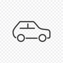 Car Line Icon, Outline Vector ...