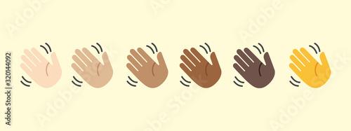 Photo Waving hand vector isolated icon illustration