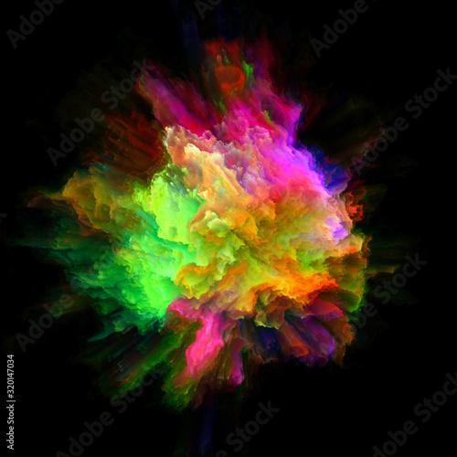 Fototapety, obrazy: Conceptual Color Splash Explosion