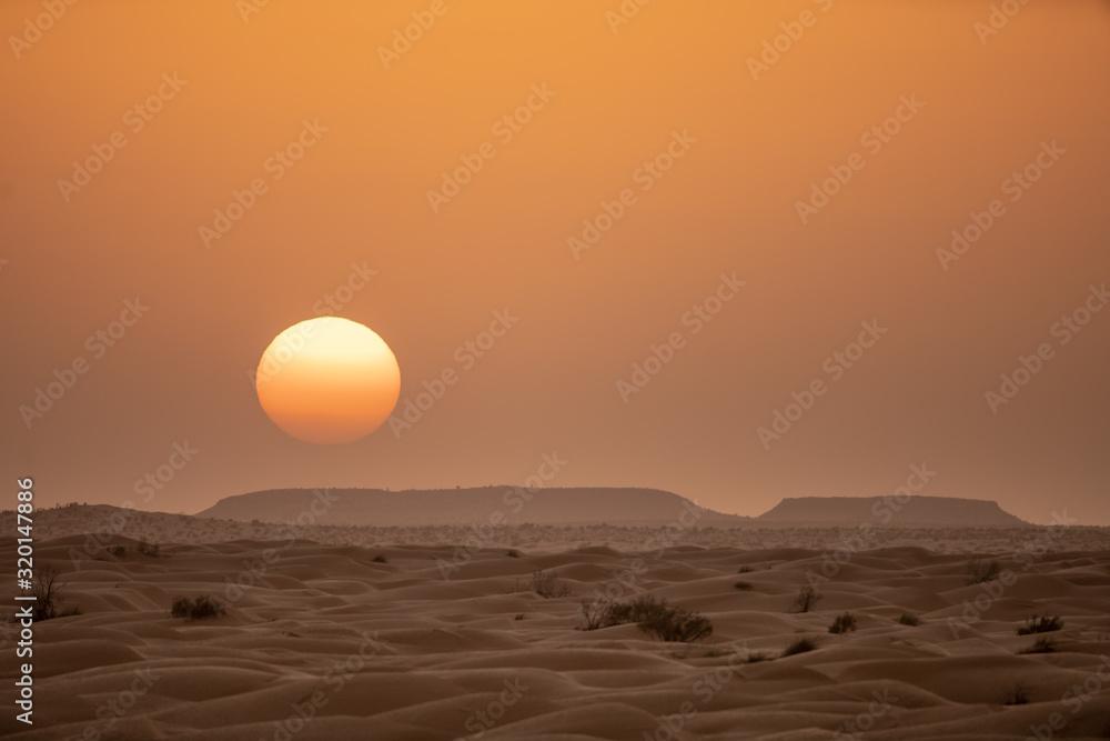 Fototapeta sunset in desert