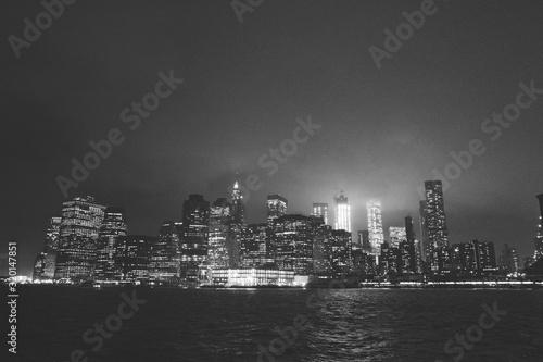 Fototapety, obrazy: ILLUMINATED CITY AT NIGHT