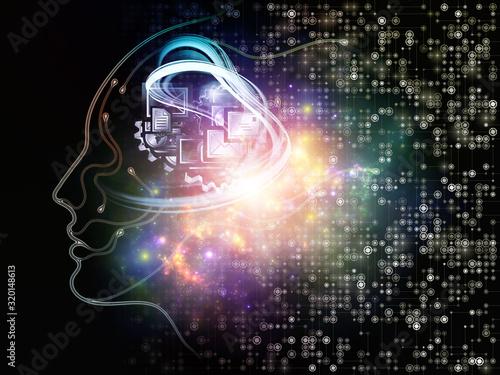 Obraz Digital Mind - fototapety do salonu