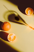 Oranges And Martini On Yellow ...