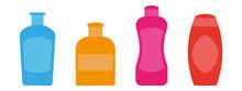 Set Of Colored Plastic Bottles...