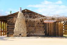 Log Cabin Stone Chimney Stack ...