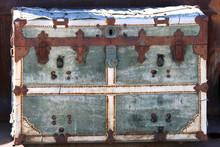 Rusted Old Vintage Wagon Chest