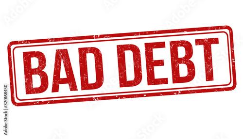 Fototapeta Bad debt sign or stamp obraz