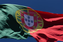 Low Angle View Of Portuguese Flag