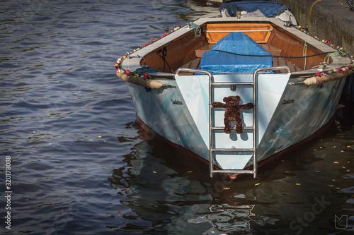 Obraz SHIP IN WATER - fototapety do salonu