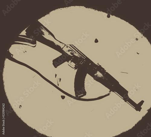 AK-47 ascetics Canvas Print