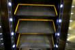 Full Frame Shot Of Illuminated Escalator