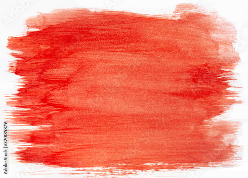 Fototapety, obrazy: Color brush brushes on white paper sheet, background texture