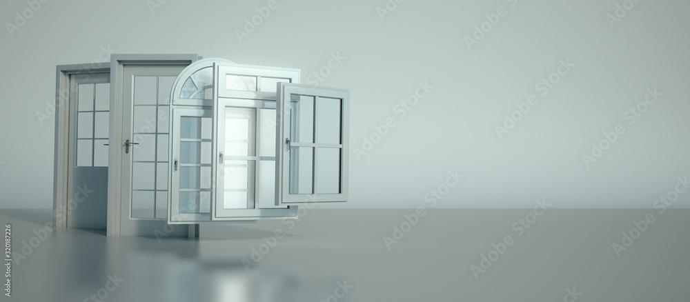 Fototapeta Door and windows selection
