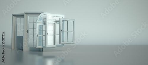 mata magnetyczna Door and windows selection