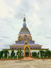 Exterior Of Wat Tha Ton Temple Against Sky