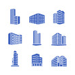 Buildings icon template color editable. Bank, Hotel, Courthouse. City, Real estate, Architecture buildings icons.. Buildings symbol vector sign isolated on white background illustration