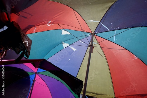 Fototapety, obrazy: Low Angle View Of Multi Colored Umbrellas
