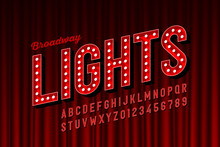 Broadway Lights Retro Style Fo...