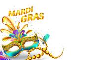 Mardi Gras Carnival Mask Poste...
