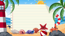Border Template With Summer Th...