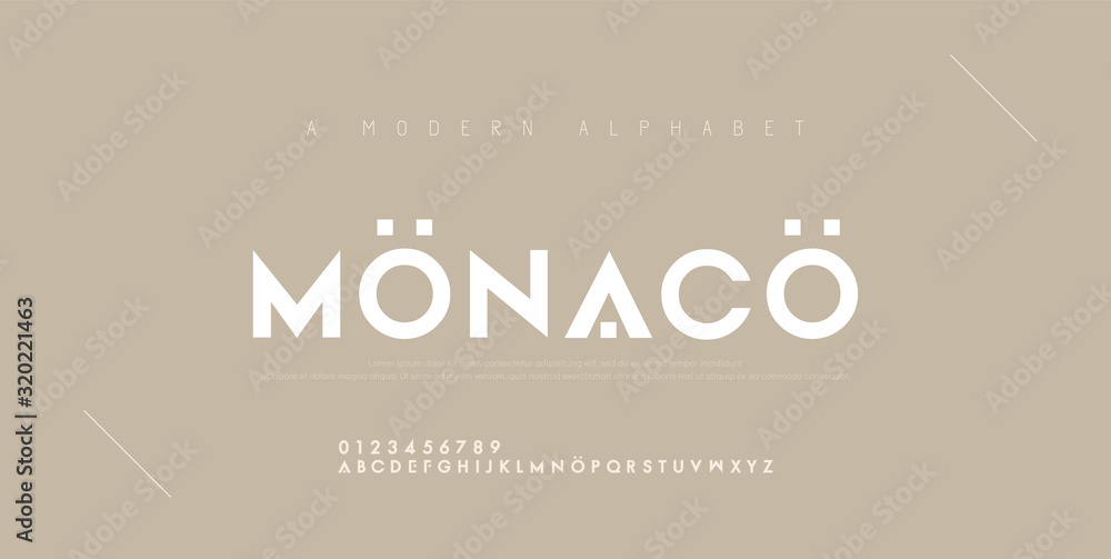 Fototapeta Abstract minimal modern alphabet fonts. Typography technology electronic digital music future creative font. vector illustration