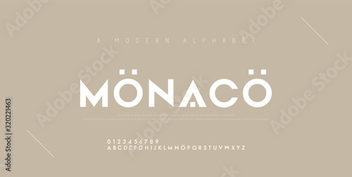 Obraz Abstract minimal modern alphabet fonts. Typography technology electronic digital music future creative font. vector illustration - fototapety do salonu
