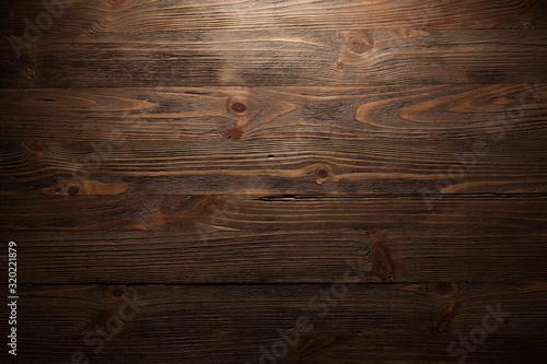 Obraz Textura de superfície de pranchas de madeira marrom antigas. - fototapety do salonu