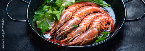Roasted prawn shrimps