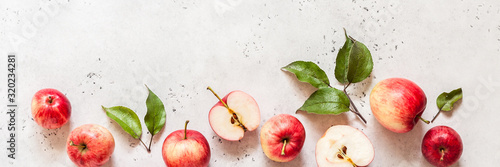 Fototapeta Red Apples, Copy Space obraz
