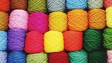 Full Frame Shot Of Colorful Wool Balls