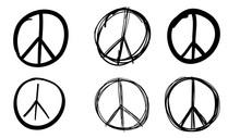 Peace Sign Set, Vector Illustr...