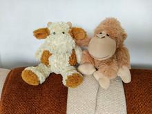 Stuffed Toys Bull And Monkey S...